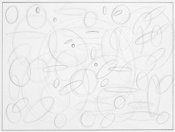 abstract drawing circles