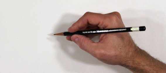 how to hold a pencil: writing position