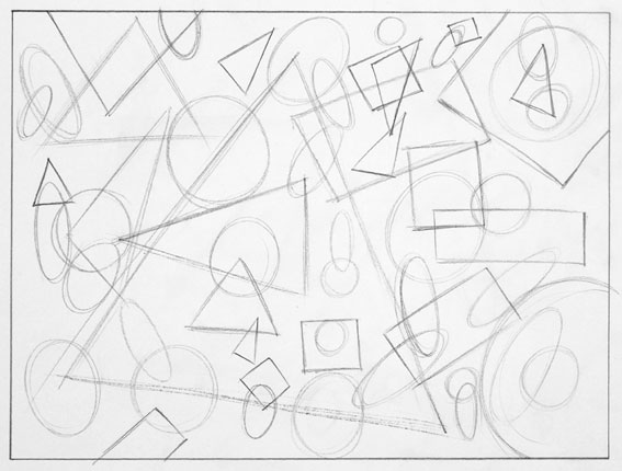 Drawing With Lines And Shapes : Line drawing and the simple shapes