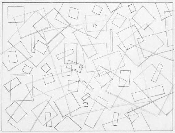 abstract drawing squares