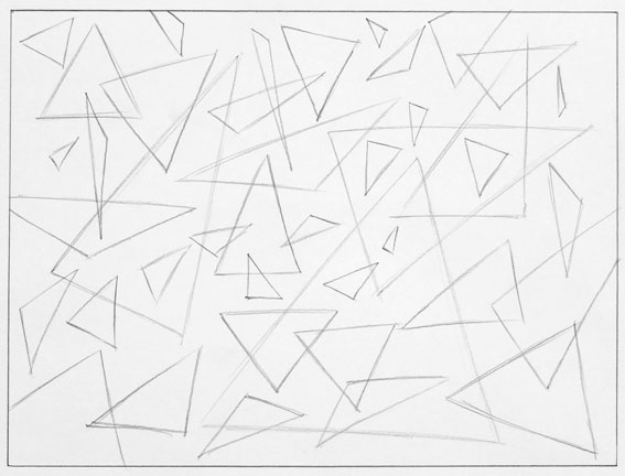 abstract drawing triangles